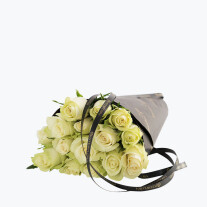 15 White Roses Gift Wrapped